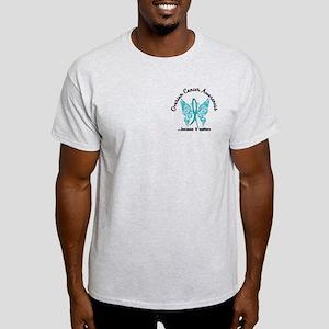 Ovarian Cancer Butterfly 6.1 Light T-Shirt