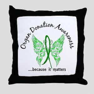 Organ Donation Butterfly 6.1 Throw Pillow