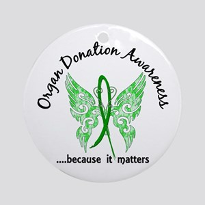 Organ Donation Butterfly 6.1 Ornament (Round)