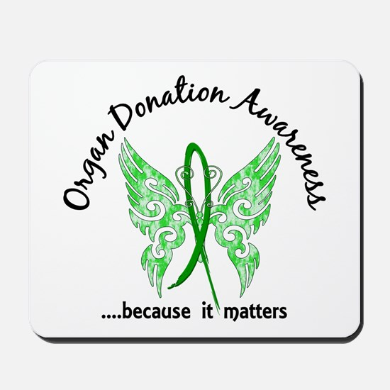 Organ Donation Butterfly 6.1 Mousepad