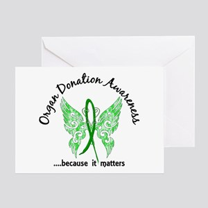 Organ Donation Butterfly 6.1 Greeting Card