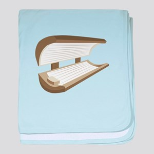 Tanning Bed baby blanket