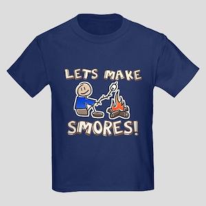 Lets Make SMORES! Kids Dark T-Shirt