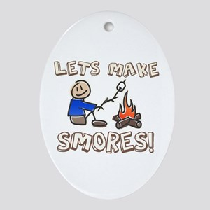 Lets Make SMORES! Oval Ornament
