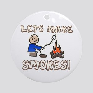 Lets Make SMORES! Ornament (Round)