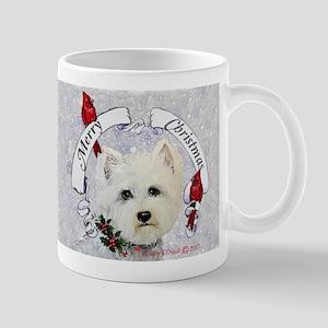 Westie Christmas Cards Mugs
