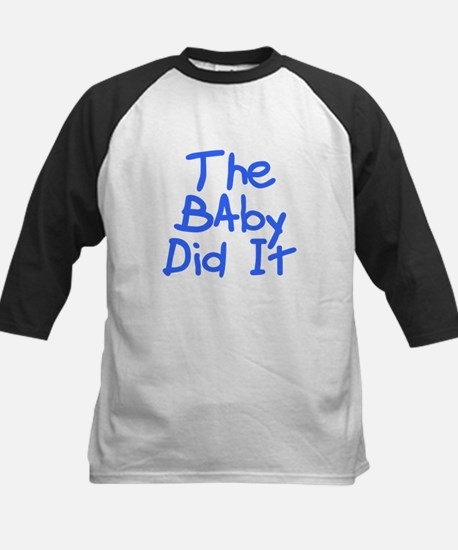 Twisted Imp The Baby Did It Kids Baseball Jersey
