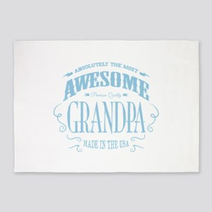 Most Awesome Grandpa 5'x7'Area Rug