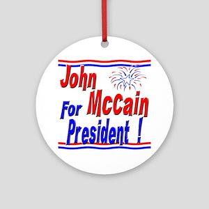 McCain for President Ornament (Round)