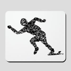 Distressed Runner On Starting Blocks Mousepad