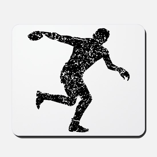 Distressed Discus Throw Silhouette Mousepad