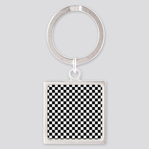 Black & White Checkerboard Keychains