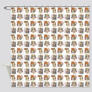 HOLIDAY PRIM Shower Curtain