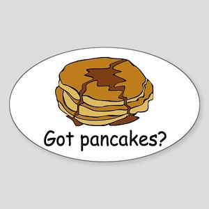 Got pancakes? Oval Sticker