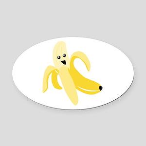 Silly Banana Oval Car Magnet