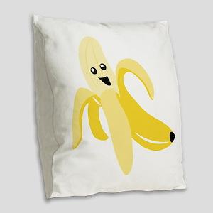 Silly Banana Burlap Throw Pillow
