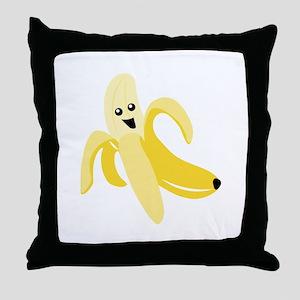 Silly Banana Throw Pillow
