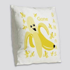 Gone Banana Burlap Throw Pillow