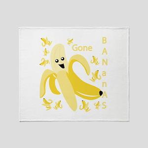 Gone Banana Throw Blanket