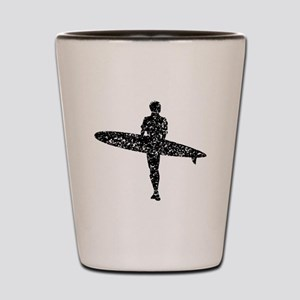 Distressed Surfer Silhouette Shot Glass