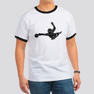 Distressed Soccer Goalie Silhouette T-Shirt