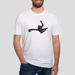 Distressed Soccer Goalie Silhouette T-Shirt