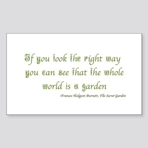 The Secret Garden Quote Sticker