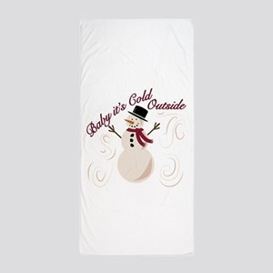 Cold Outside Beach Towel