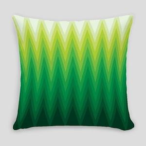 Green Ombre Chevron Everyday Pillow