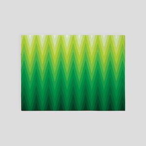 Green Ombre Chevron 5'x7'Area Rug