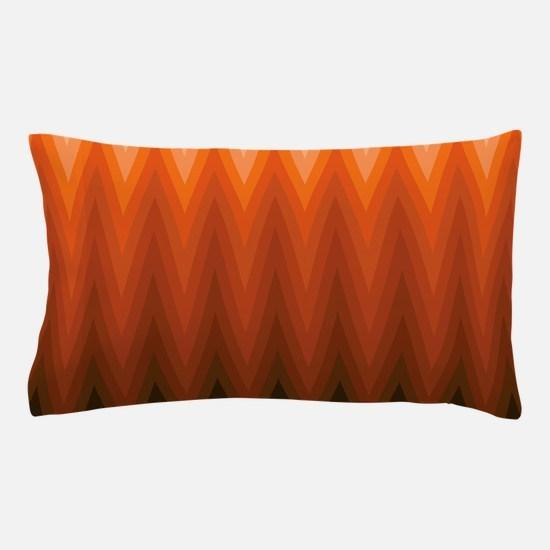 Brown Orange Beige Ombre Chevron Pillow Case