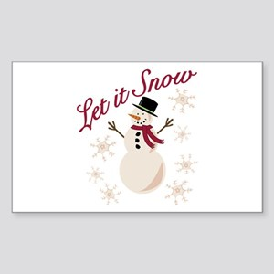 Let It Snow Sticker