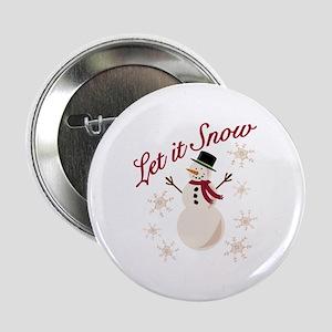 """Let It Snow 2.25"""" Button (10 pack)"""