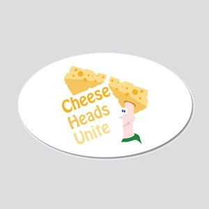 Cheese Heads Unite Wall Decal