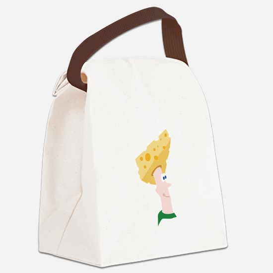 Cheese Head Canvas Lunch Bag