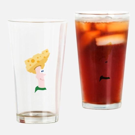 Cheese Head Drinking Glass