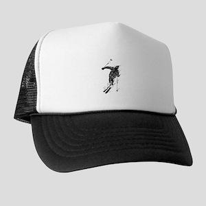 Distressed Downhill Skier Trucker Hat