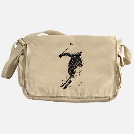 Distressed Downhill Skier Messenger Bag