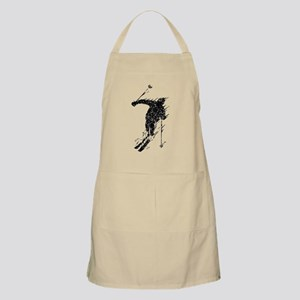 Distressed Downhill Skier Apron