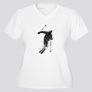 Distressed Downhill Skier Plus Size T-Shirt
