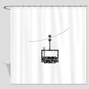 Distressed Ski Lift Shower Curtain