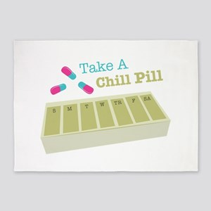 Chill Pill 5'x7'Area Rug