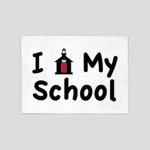 My School 5'x7'Area Rug
