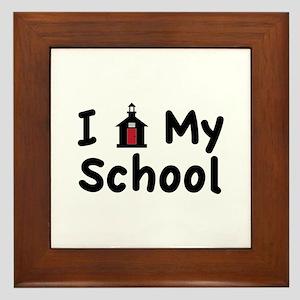 My School Framed Tile