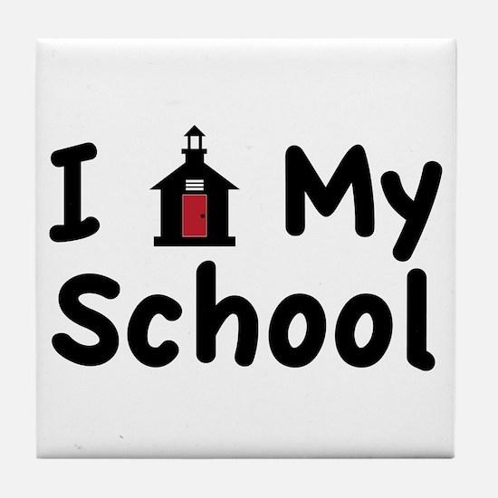 My School Tile Coaster