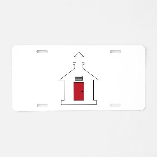 School House Aluminum License Plate