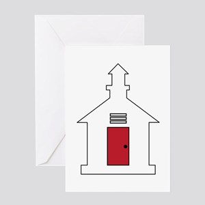 School House Greeting Cards