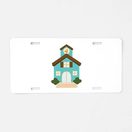 School Building Aluminum License Plate