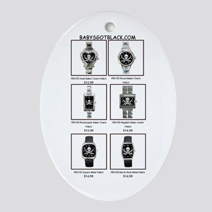 PIRATE WATCH CATALOG Oval Ornament