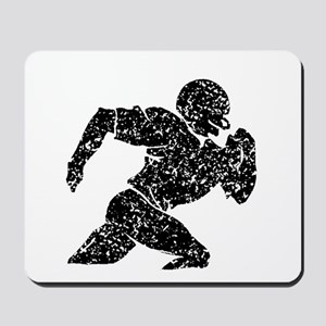 Distressed Football Player Silhouette Mousepad